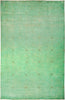 "Vibrance, 10x14 Green Wool Area Rug - 10' 2"" x 15' 5"""