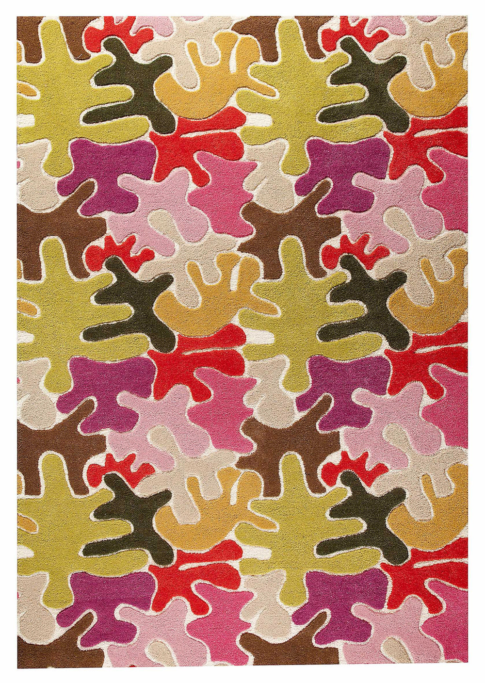 MAT Orange 6WT Jigsaw Area Rug