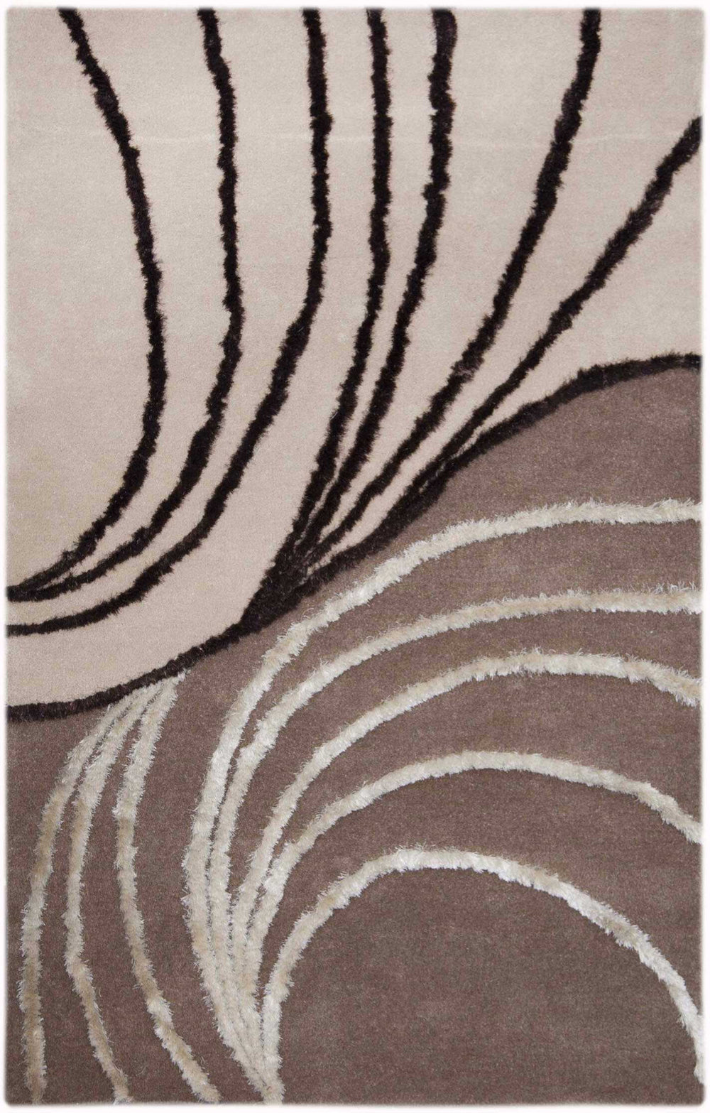 MAT Orange 7WT Waves Area Rug