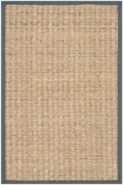 Safavieh Natural Fiber NF114Q Natural / Dark Grey Rug