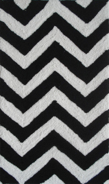 The Rug Market Chevron Black PA0005 Area Rug