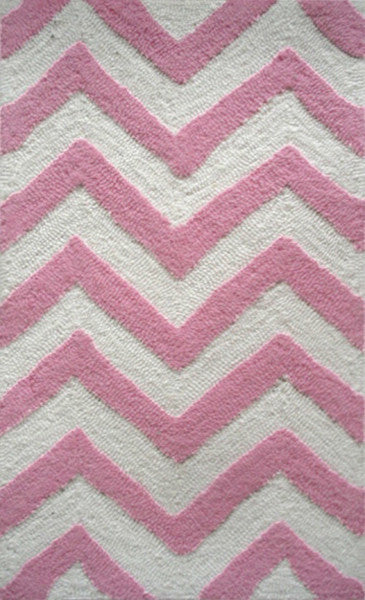 The Rug Market Chevron Pink PA0047 Area Rug