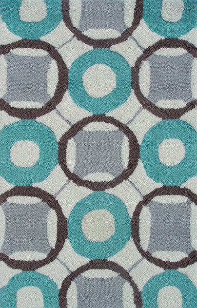 The Rug Market Rounders Blue PA0096 Area Rug