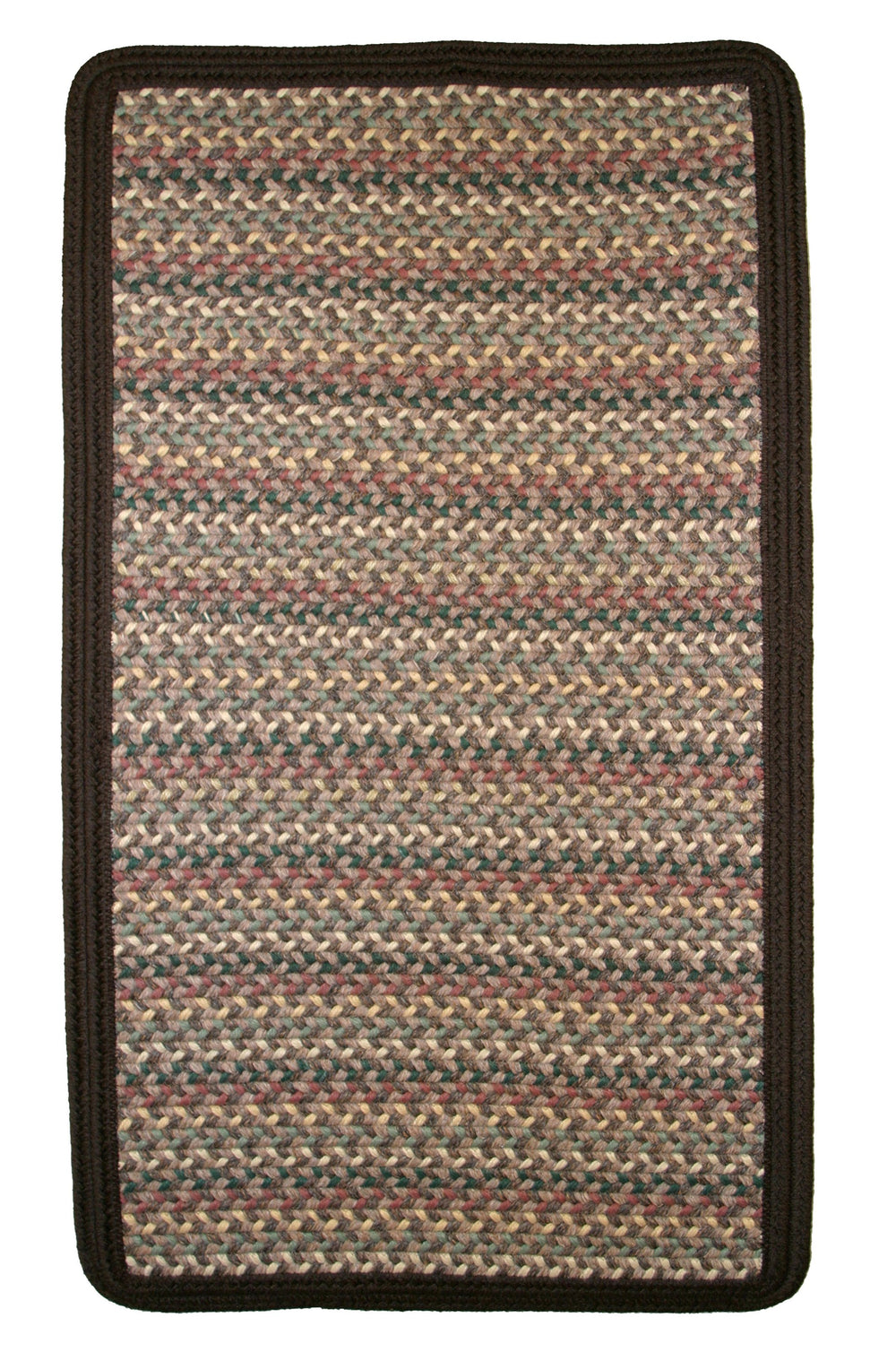 Thorndike Mills Pioneer Valley II Autumn Wheat w/DK Brown Solids Area Rug