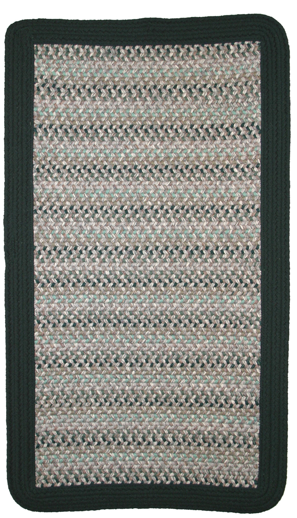 Thorndike Mills Pioneer Valley II Aqua Mist w/DK Green Solids Area Rug