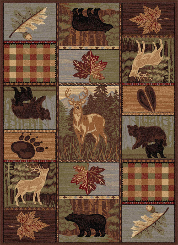 Tayse Nature Colorblock Wildlife Area Rug Rug Savings