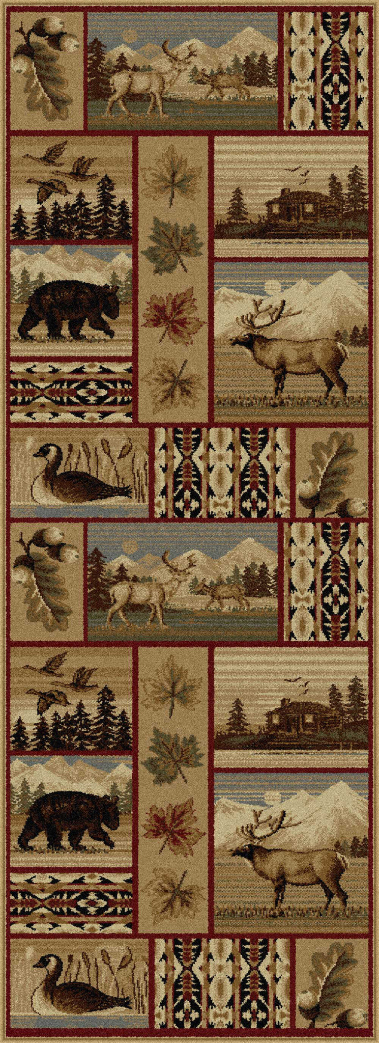 Tayse Nature Scenic Wildlife Area Rug