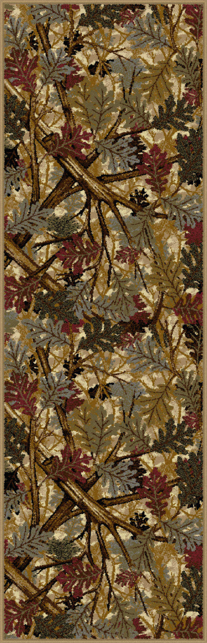 Tayse Nature Oak Canopy Area Rug