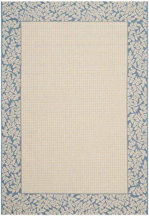 Safavieh Courtyard CY0727-3101 Trailing Vine Natural / Blue Rug