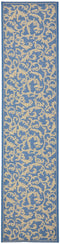 Safavieh Courtyard CY2653-3103 Carlisle Tracery Blue / Natural Rug