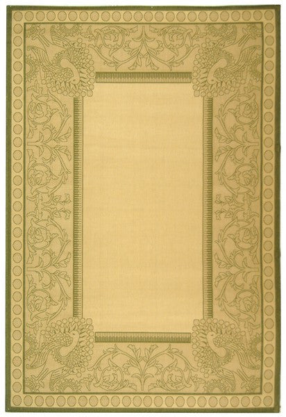 Safavieh Courtyard CY2965-1E01 Eden Border Natural / Olive Rug