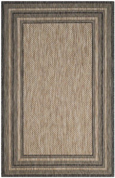 Safavieh Courtyard CY8475-37312 Natural / Black Rug