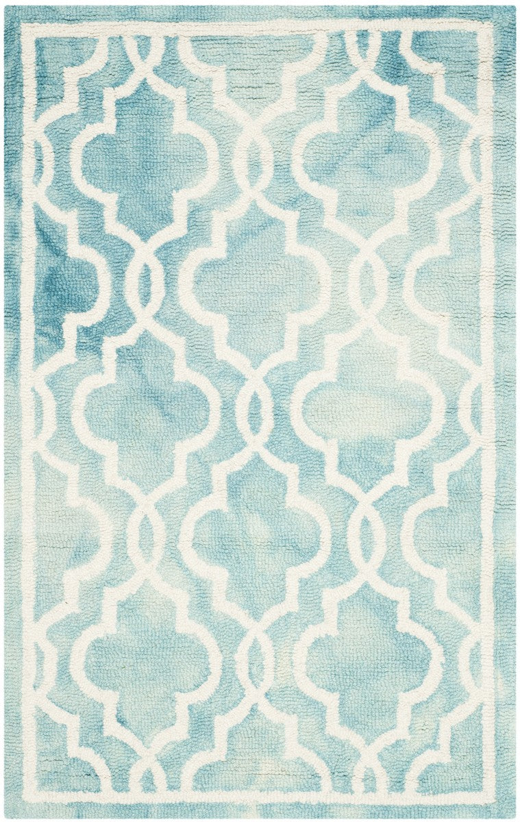Safavieh Dip Dye DDY539D Turquoise / Ivory