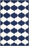 Safavieh Dhurries DHU624D Navy / Ivory Rug