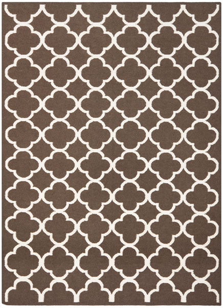 Safavieh Dhurries DHU627C Brown / Ivory Rug