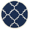 Safavieh Dhurries DHU633D Navy / Ivory Rug