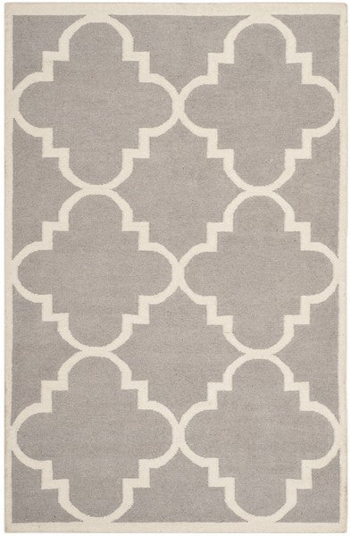 Safavieh Dhurries DHU633G Dark Grey / Ivory Rug