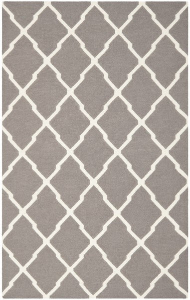 Safavieh Dhurries DHU634G Dark Grey / Ivory Rug