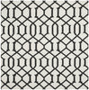 Safavieh Dhurries DHU753D Ivory / Charcoal Rug