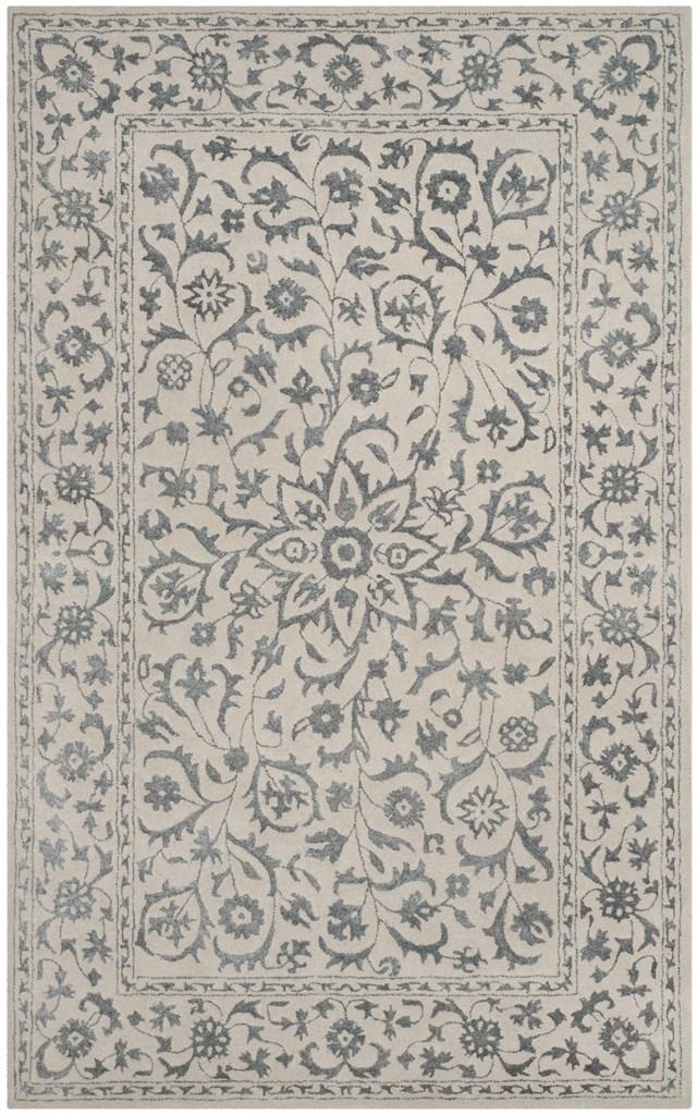 Safavieh Glamour GLM515A Silver / Ivory