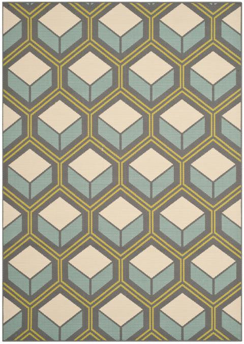 Safavieh Hampton HAM512BD Dark Grey / Light Blue Rug