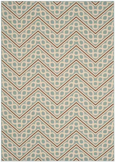 Safavieh Hampton HAM513AL Light Blue / Ivory Rug