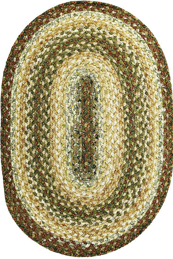 Homespice Decor Heather Cotton Braided Rug - Sky Home Decor