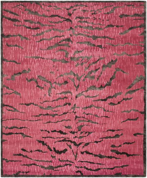 Safavieh Jamie Drake JDK351B Raspberry / Coffee Rug