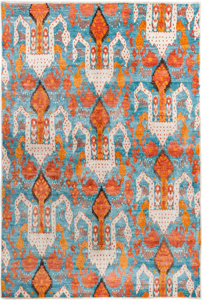 Safavieh Luxor LUX162A Aqua Orange Rug