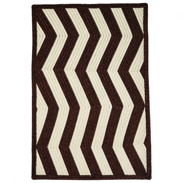 Homespice Decor Mahogany Ivory Indoor/Outdoor Braided Rug