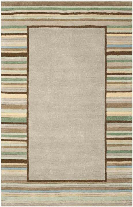 Safavieh Martha Stewart MSR4715A Striped Border Tadpole Green Rug