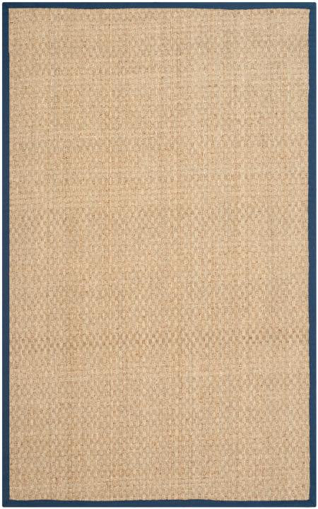 Safavieh Natural Fiber NF114E Natural / Blue Rug