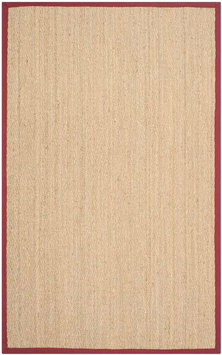 Safavieh Natural Fiber NF115D Natural / Red Rug