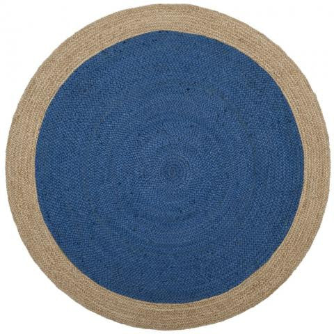 Safavieh Natural Fiber NF801D Royal Blue / Natural Rug