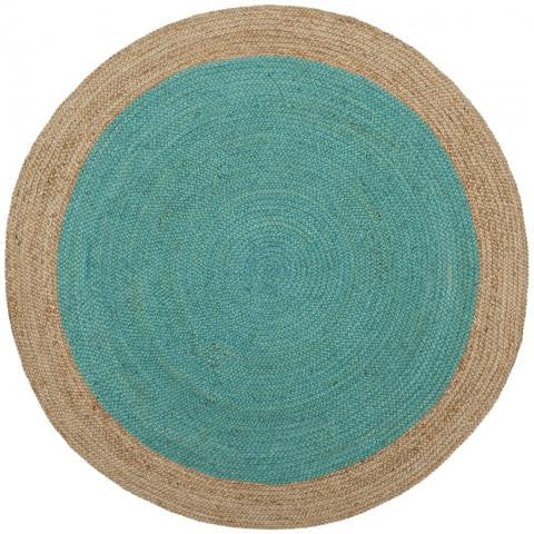 Safavieh Natural Fiber NF801E Teal / Natural Rug