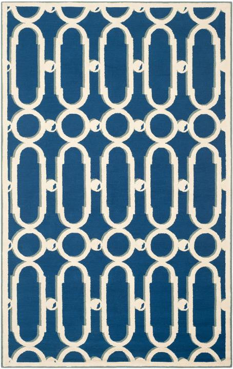 Safavieh Newport NPT434C Royal Blue / White Rug