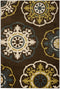 Safavieh Newbury NWB8699-2552 Brown / Green Rug