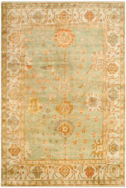 Safavieh Oushak OSH117B Dark Green / Light Green Rug