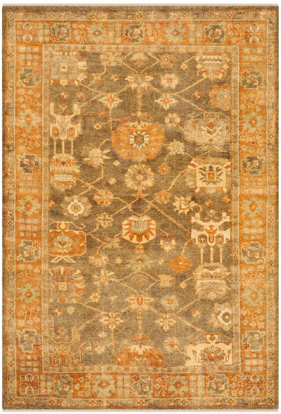 Safavieh Oushak OSH144A Brown / Rust Rug