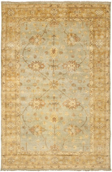 Safavieh Oushak OSH151A Light Blue / Gold Rug