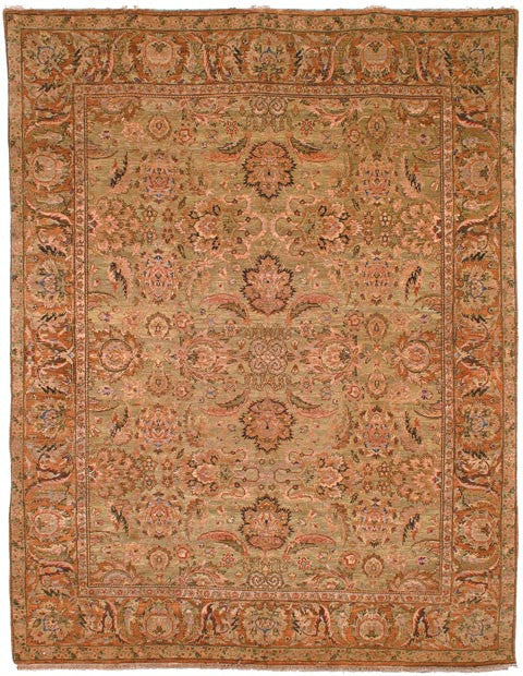 Safavieh Old World OW115C Light Green / Gold Rug