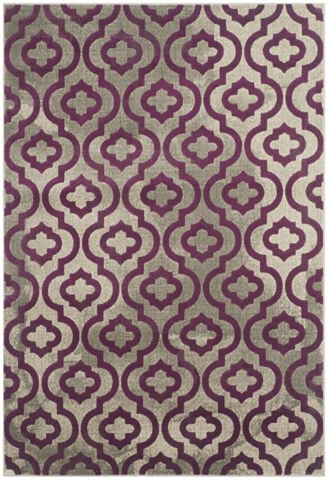 Safavieh Porcello PRL7734B Light Grey / Purple Rug
