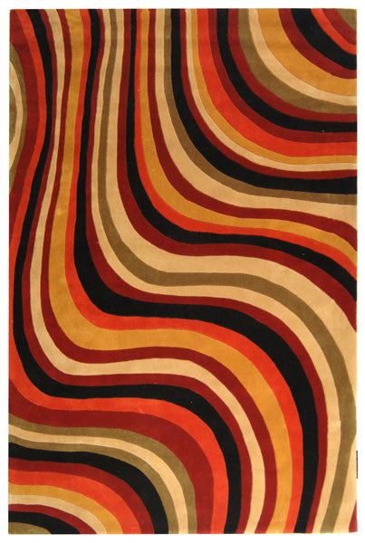 Safavieh Rodeo Drive RD855A Red / Black Rug