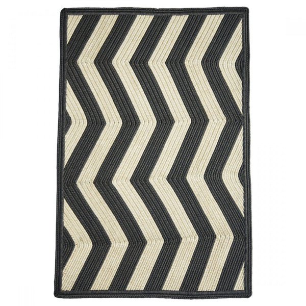 Homespice Decor Sable Ivory Indoor/Outdoor Braided Rug