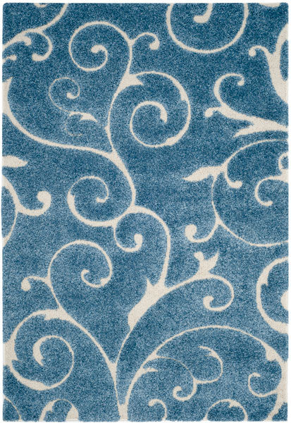 Safavieh Florida Shag SG455-6011 Light Blue / Cream Rug