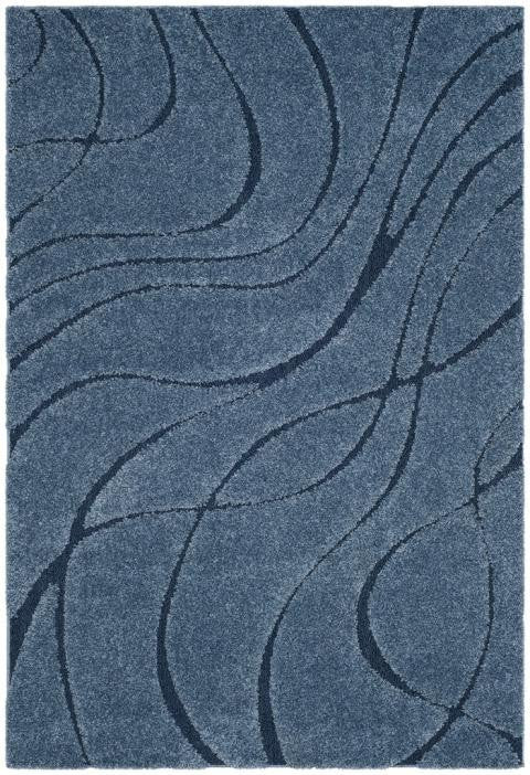 Safavieh Florida Shag SG471-6065 Light Blue / Blue Rug