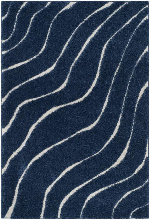 Safavieh Florida Shag SG472-6511 Dark Blue / Cream Rug