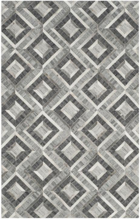 Safavieh Studio Leather STL221A Ivory / Dark Grey Rug