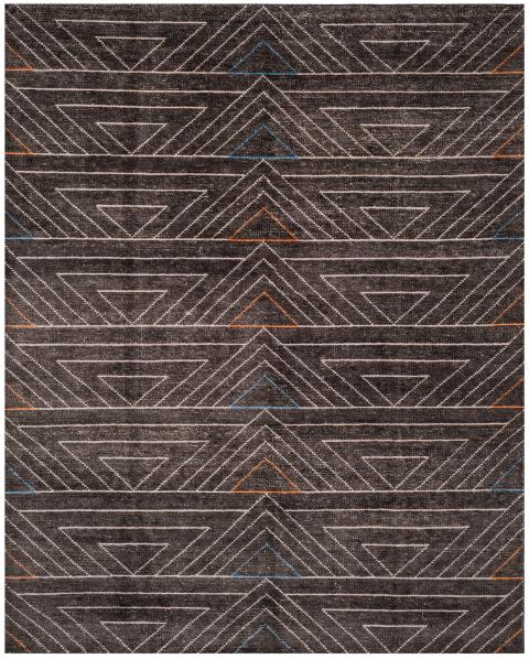 Safavieh Stone Wash STW901A Dark Brown/ Multi