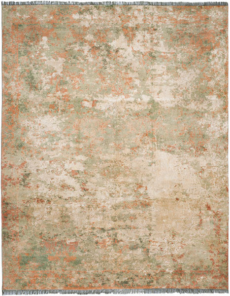 Safavieh Vinyard VIN511A Green / Orange Rug